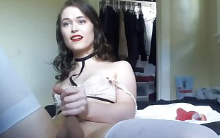 Extreme cute brunette tgirl live cam