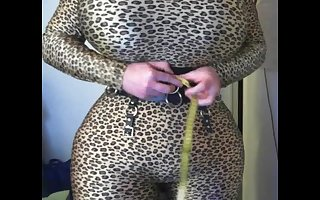 leopard with words