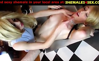 Two pervers trannies in hot game