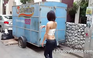 Sexy Thai ladyboys in public looking for sex