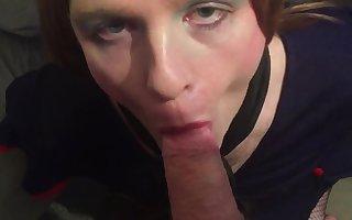 UK TV Alexis sucks cock and gets facial cumshot