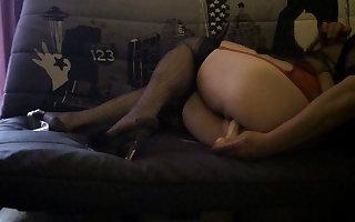 Cross in pantyhose